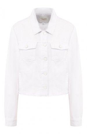 Джинсовая куртка Paige. Цвет: белый