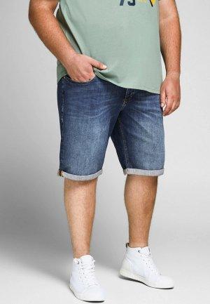 Шорты джинсовые Jack & Jones. Цвет: синий