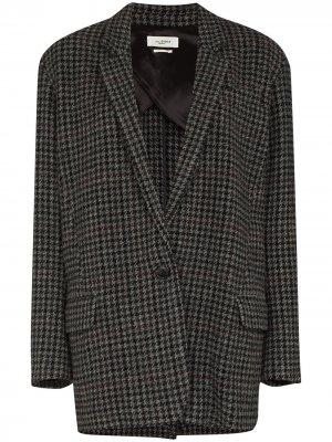 Пиджак Kaito в ломаную клетку Isabel Marant Étoile. Цвет: серый