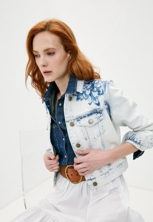 Куртка джинсовая Twinset Milano. Цвет: белый