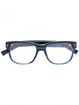 Очки в квадратной оправе Dolce & Gabbana Eyewear. Цвет: синий