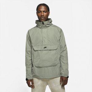 Мужской анорак с капюшоном без подкладки Sportswear Premium Essentials - Зеленый Nike