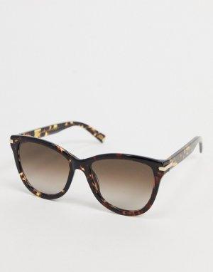 Черные круглые солнцезащитные очки -Коричневый Marc Jacobs