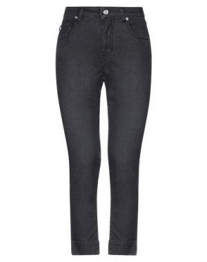 Джинсовые брюки-капри MARANI JEANS. Цвет: черный