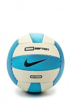 Мяч волейбольный Nike 1000 SOFTSET OUTDOOR VOLLEYBALL INFLATED WITH BOX. Цвет: синий