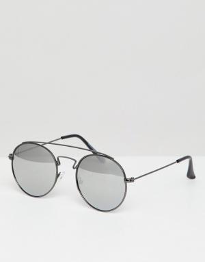 Круглые солнцезащитные очки -Серый Jack & Jones