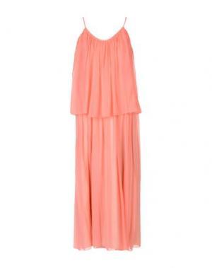 Длинное платье ELIZABETH AND JAMES. Цвет: лососево-розовый