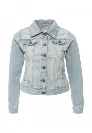 Куртка джинсовая Brave Soul. Цвет: голубой