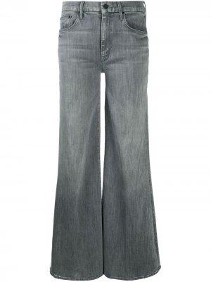 Широкие джинсы Mother. Цвет: серый