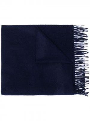 Кашемировый шарф с бахромой Begg & Co. Цвет: синий