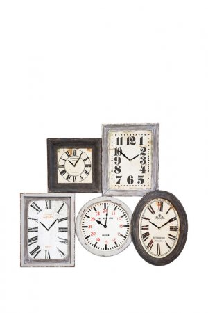 Часы настенные Vintage Kare. Цвет: белый, серый, черный