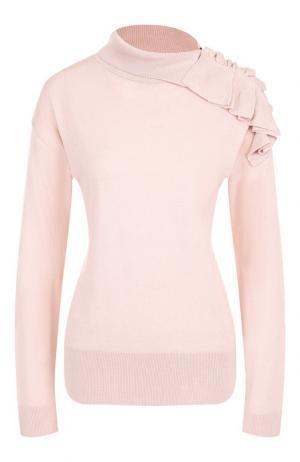 Пуловер с декоративной отделкой Pietro Brunelli. Цвет: розовый