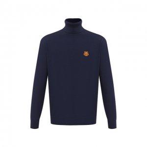 Шерстяной свитер Kenzo. Цвет: синий