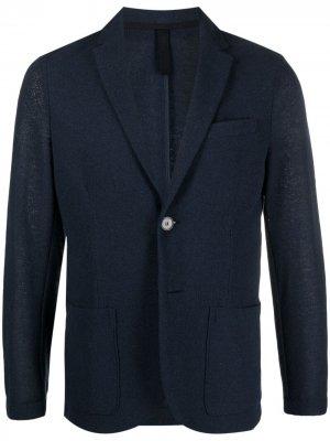 Однобортный пиджак с заостренными лацканами Harris Wharf London. Цвет: синий