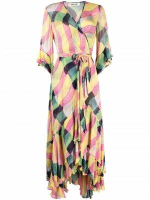Платье макси Jean с поясом DVF Diane von Furstenberg. Цвет: розовый