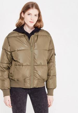 Куртка утепленная Cheap Monday. Цвет: хаки