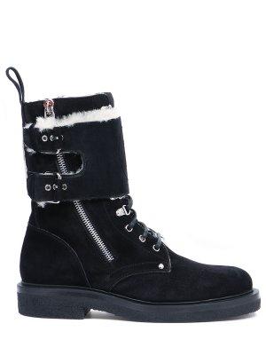 Ботинки замшевые на меху BALMAIN