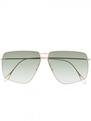 Солнцезащитные очки-авиаторы Haffmans & Neumeister. Цвет: золотистый