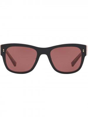 Солнцезащитные очки Domenico в D-образной оправе Dolce & Gabbana Eyewear. Цвет: красный