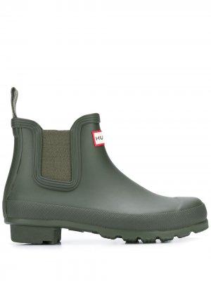 Ботинки челси Original Hunter. Цвет: зеленый