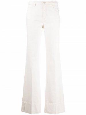 Расклешенные джинсы с завышенной талией Ermanno. Цвет: белый