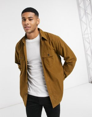 Коричневая куртка-рубашка -Коричневый Abercrombie & Fitch