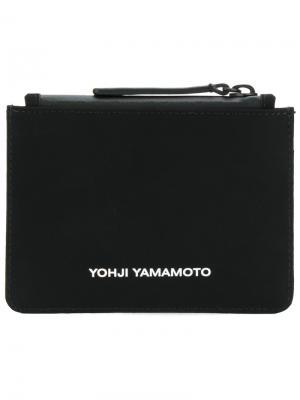 Мини-клатч с логотипом Y-3. Цвет: чёрный