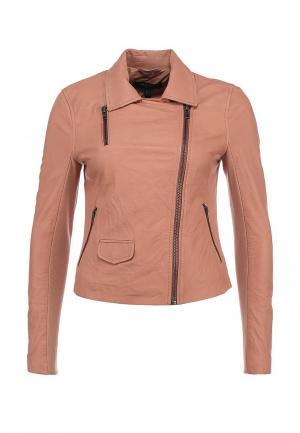 Куртка кожаная Muubaa. Цвет: розовый