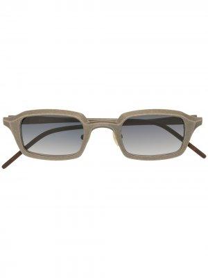 Солнцезащитные очки RG0073 в прямоугольной оправе Rigards. Цвет: серебристый