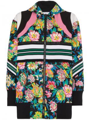 Куртка-бомбер с цветочным принтом MSGM. Цвет: разноцветный