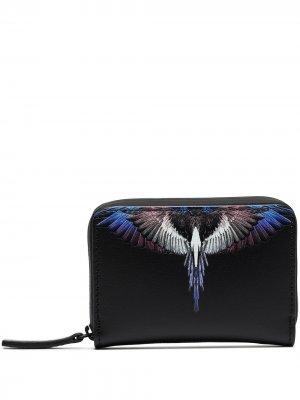 Кошелек с принтом Wings Marcelo Burlon County of Milan. Цвет: черный