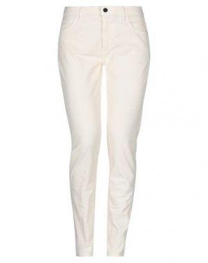 Повседневные брюки PENCE. Цвет: слоновая кость