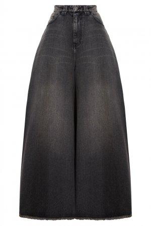 Широкие джинсы с необработанным краем Balenciaga. Цвет: черный