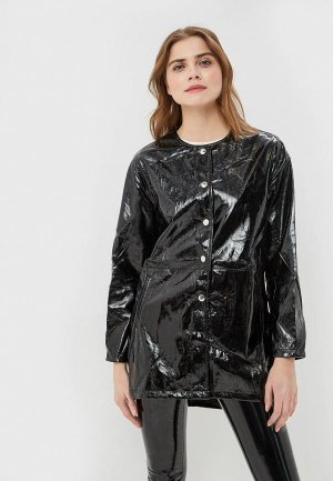Куртка кожаная You&You. Цвет: черный