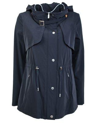 Однотонная куртка COLOMBO. Цвет: синий