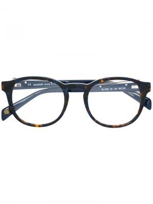 Tortoiseshell-effect glasses Balmain. Цвет: синий