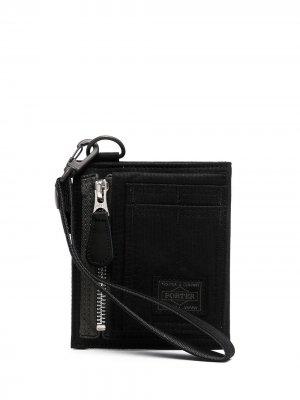 Бумажник с нашивкой-логотипом Porter-Yoshida & Co.. Цвет: черный