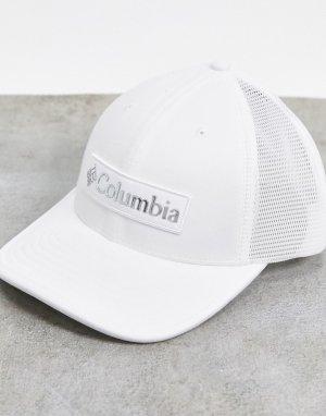 Белая бейсболка -Белый Columbia