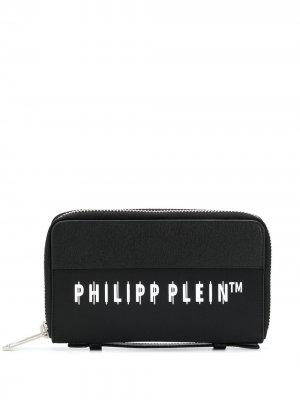 Кошелек с логотипом Philipp Plein. Цвет: черный