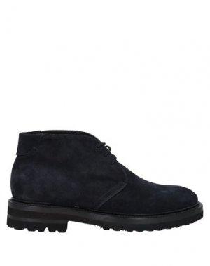 Полусапоги и высокие ботинки BRECOS. Цвет: темно-синий