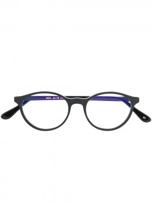 Очки Moa 1 в круглой оправе L.G.R. Цвет: черный