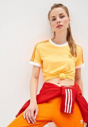 Футболка adidas Originals 3 STR TEE. Цвет: оранжевый