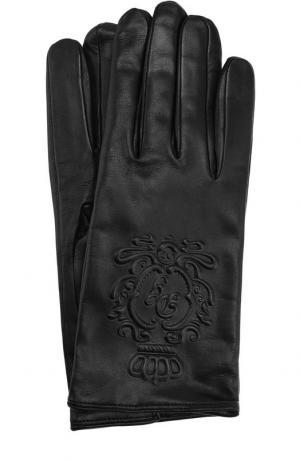 Кожаные перчатки Dolce & Gabbana. Цвет: черный