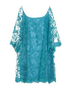 Короткое платье AGOGOA. Цвет: бирюзовый