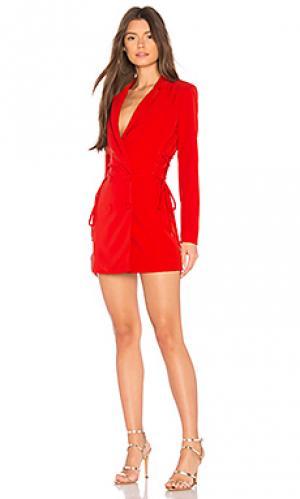 Мини платье с курткой brave NBD. Цвет: красный