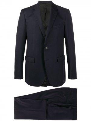 Строгий костюм с однобортным пиджаком LANVIN. Цвет: синий