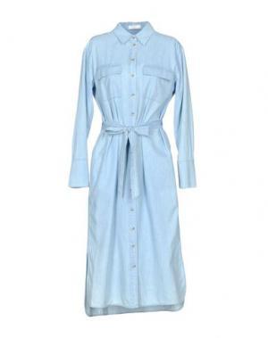 Платье длиной 3/4 EQUIPMENT. Цвет: небесно-голубой