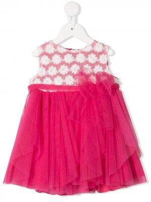 Платье из тюля с цветочным узором Aletta. Цвет: розовый