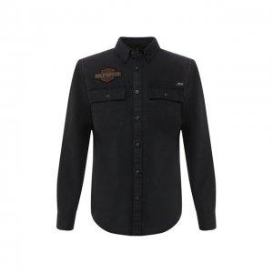 Хлопковая рубашка 1903 Harley-Davidson. Цвет: чёрный