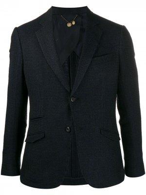 Трикотажный пиджак Maurizio Miri. Цвет: синий